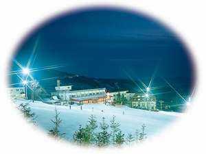 スキー&温泉 目の前に広がるゲレンデ ホテル樹林
